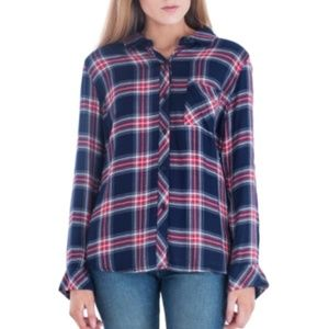Rails Hunter Flannel Shirt Navy Red Plaid Small